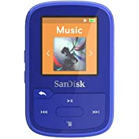 SanDisk SDMX28-016G-G46B Clip Sport Plus MP3 Player, 16GB (Blue)