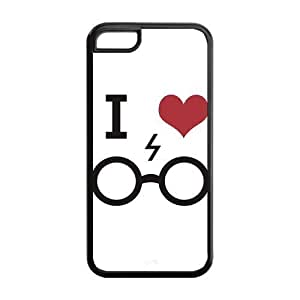 5C Phone Cases, I Love Harry Potter Hard TPU Rubber Cover Case for iPhone 5C