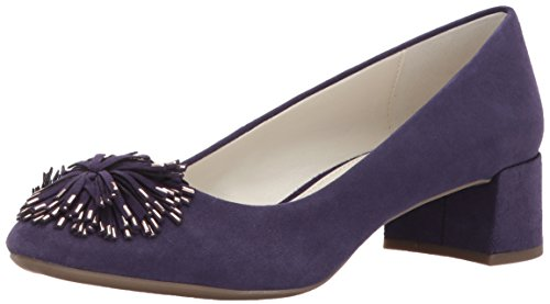 AK Anne Klein Sport Women's Happy Suede Pump, Purple, 8 M - Purple Women Pump