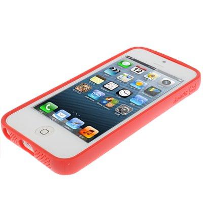 """iPhone 5 / 5S Hülle / Case aus Silikon in rot im """"HD-Pixel-Style"""" -Original nur von THESMARTGUARD-"""