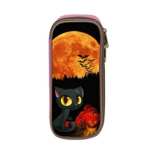 Pencil Case Beautiful Black Cat Pencil Holder Organizer Large Capacity -