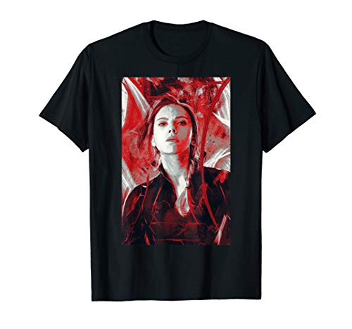 Marvel Avengers Endgame Black Widow Painting Graphic T-Shirt