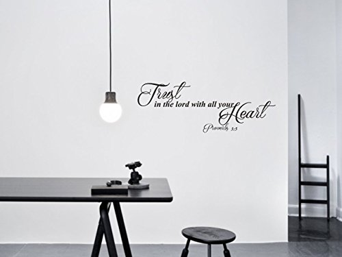 Trust In The Lord With All Your Heart Proverbs Vinyl Wall Decal
