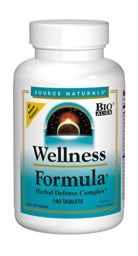 Source Naturals Wellness Formula Bio-Aligned Supplement Herbal Defense Complex Immune System Support & Immunity Booster Wholefood Multivitamin With Non-GMO Vitamins & Antioxidants - 180 Tablets