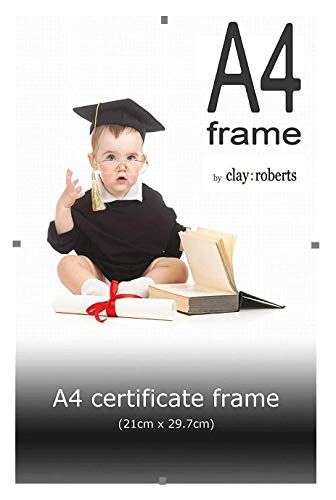 A4 Clear Clip Photo Frame, Picture Frame, Certificate and Document Frame, Wall ()