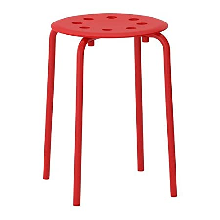 Ikea Marius Stool Red Amazoncouk Kitchen Home