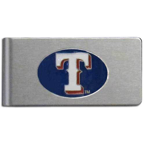 Texas Rangers Clip - Siskiyou MLB Texas Rangers Brushed Money Clip