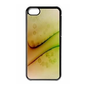 iPhone 5C Case,Ripple Painted Macro Hard Shell Back Case for Black iPhone 5C Okaycosama359056