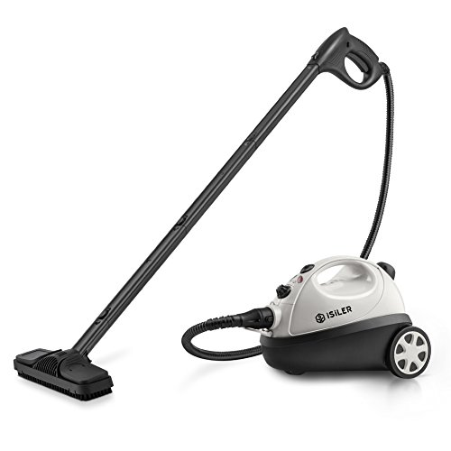 (ISILER Steam Cleaner, Heavy-Duty Steam Cleaner with 20 Accessories, 1400ML (47.8 OZ) Water Tank Multi-Purpose Household Steam Cleaning System for Floors, Carpets, Windows, BBQ Grills, Ovens,)
