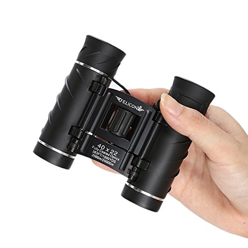 40x22 Binoculars for Adults Compact Small Mini Lightweight High Powered Binoculars Telescope with Weak Light Night Vision for Bird Watching Travel Sports Concerts Theater Camping Hiking (Black) by SENMONUS