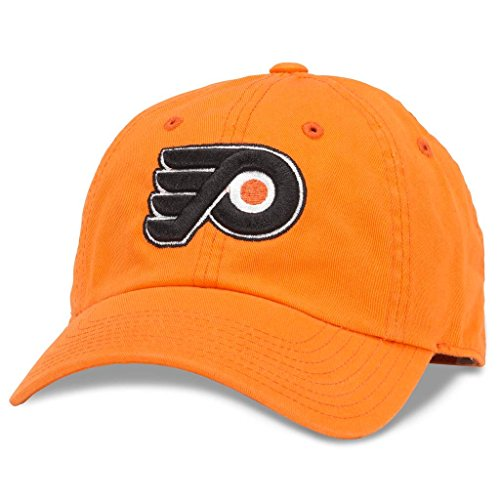 (American Needle Blue Line NHL Team Dad Hat, Philadelphia Flyers, Orange (40742A-PHF) )