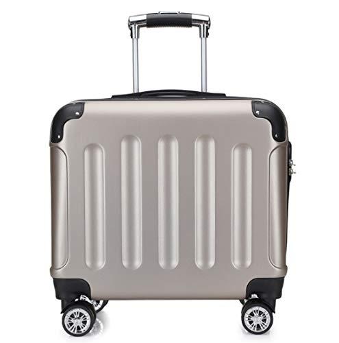 新しい子供の旅行トロリーケースユニバーサルホイール搭乗荷物バッグ17インチ (Color : ゴールド)  ゴールド B07QHVNRBR