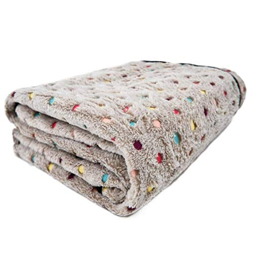 Pet Dog Cushions Cat Warm Beds House for Large Dogs Mats Breathable Cozy Super Soft Thick Blankets 3 Size Durable Kennels,Beige,L