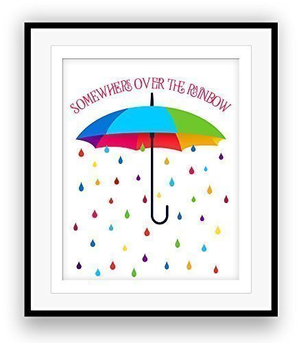 Song Lyrics Art Print Poster : SOMEWHERE OVER THE RAINBOW from the Wizard of Oz ()