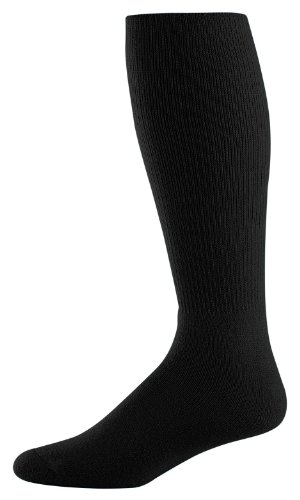 Athletic Socks - Youth Size 7-9, Color: Black, Size: 7 - 9 by Augusta Sportswear