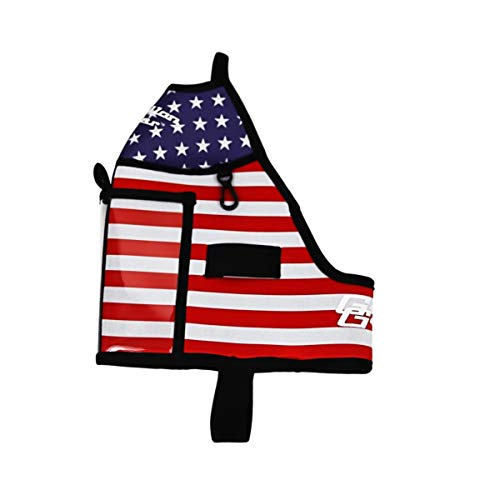 Gallon Gear Half Gallon Fitness Hydration Cover - Neoprene Insulated Cooling and Portable Gym Water Bottle Carrier - Case with Storage Pockets (American Flag)