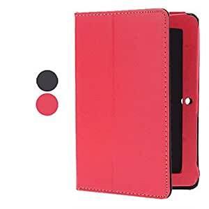 2 Patrón plegable Leechee Leather Laptop Sleeve Case for Q88 (2 colores) , Rojo