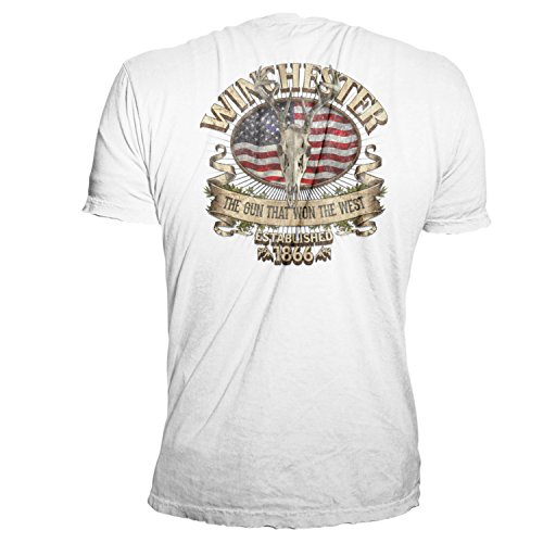 Winchester Official Men's Southern Rebel Skull Graphic Short Sleeve Cotton T-Shirt - Men's Sale (S, (Rebel Flag Graphic)