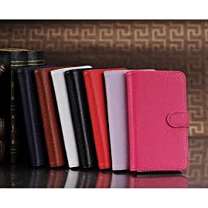 Fish Scale Grain Wallet Style Stand Leather Case For Google Nexus 4 -*- Color -- Pink