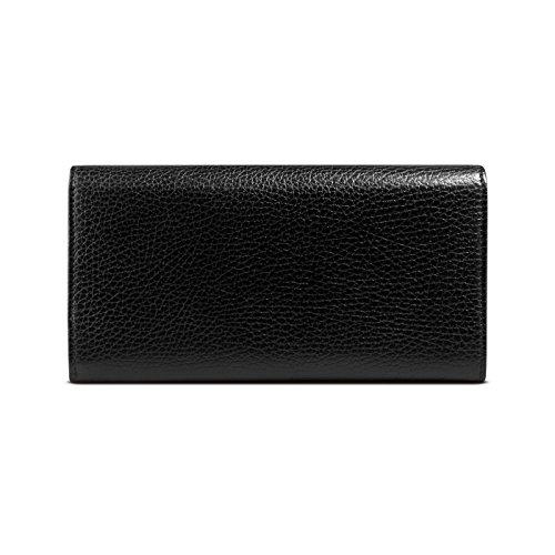 95fb14d4ddb0 Jual Gucci Women's Black Swing Leather Snap Closure Continental ...