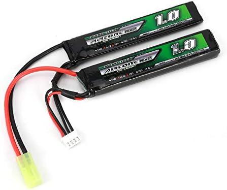 Silverdrew Airtonk Power 11.1V 1000mAh 15C 3S Batería Lipo Mini Tamiya Plug Recargable de Doble celda para Modelo de Pistola Toy Boy Gift