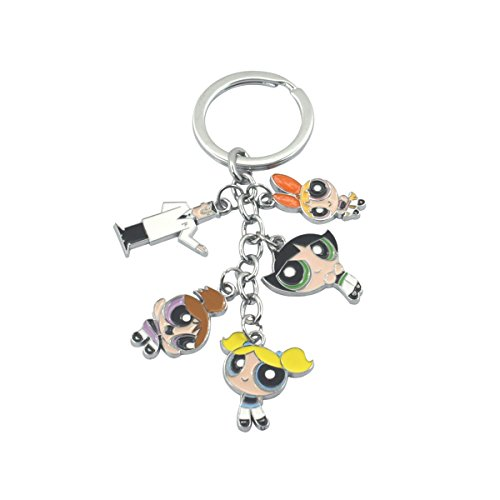 Powerpuff Girls Cartoon Key Ring Keychain for House Boat Auto Keys -