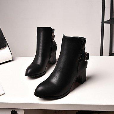 Inverno Quadrato DESY tonda caviglia Stivaletti Scarpe Stivaletti Punta Comoda Innovativo Da alla Finta Autunno beige pelle donna TBqrOwBxY