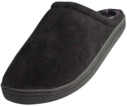 perry-ellis-portfolio-mens-microsuede-clog-slipper-black-39025-x-large