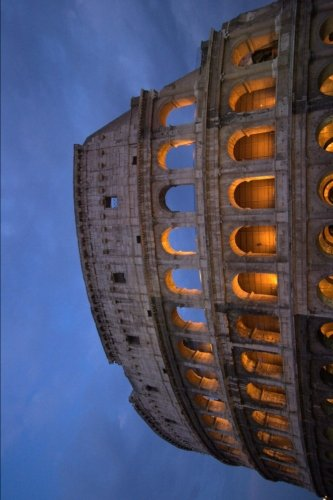 (Roman Colosseum at Dusk in Rome Italy Journal: 150 page lined notebook/diary)