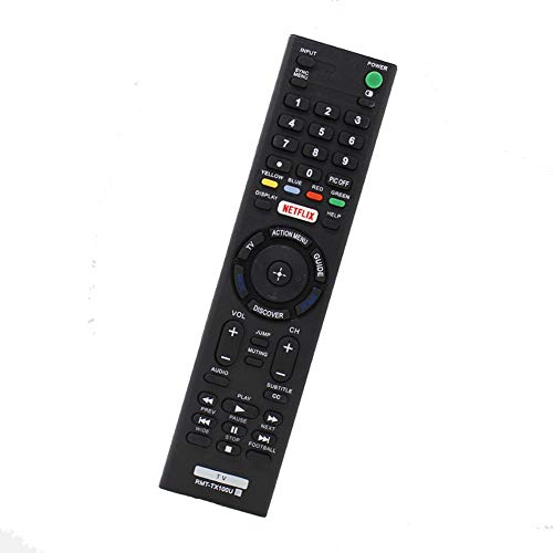 New LED 4K UHD Smart TV Remote Control RMT-TX100U Compatible for Sony Bravia TV XBR-65X890C XBR-55X890C XBR-55X850C XBR-49X830C XBR-43X830C XBR-75X880C KDL-75W850C KDL-65W850C XBR-75X940C XBR-65X930C (Bravia Remote Control)