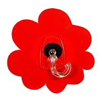 Gad Gels V2TGS00500 Red Poppy, Set of 2 Multipurpose Hook, Reusable, Removable with no Glue