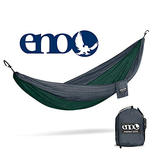 - ENO Eagles Nest Outfitters - DoubleNest Hammock, Portable Hammock for Two, Forest/Charcoal