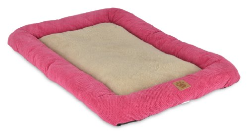 Precision Pet 4000 Snooze Mod Chic Low Bumper Crate Mat Bed, Fuchsia Rose