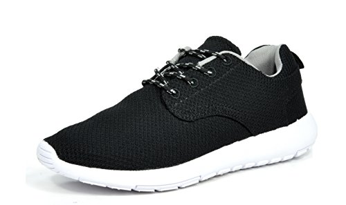 DREAM PAIRS 5003 Mens New Light Weight Go Easy Walking Casual Athletic Comfortable Running Shoes Sneakers Runpro-black/White