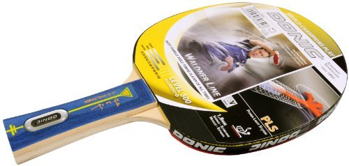 Skidskrot Unisex Waldner 500 Table Tennis Bat - Yellow/Grey, 26 cm by Schildkrot by Schildkrot