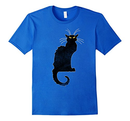 Mens Cat Face Scary Halloween Costume Tee Shirt October 31st Gift Small Royal Blue