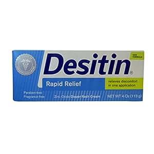 Desitin Rapid Relief Cream 4 Oz (2 Pack)