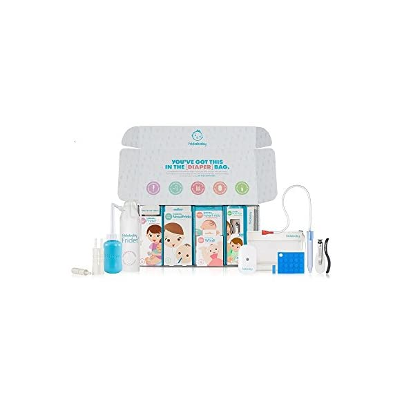 Large Health and Grooming Baby Set by Fridababy | Big Bundle of Joy Includes NoseFrida, Windi and Other Baby Essentials