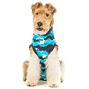 Suitical Recovery Suit for Dogs - Blue Camo - size Large
