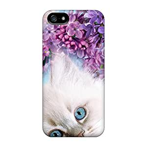 Hot Style RhV22339xyfa Protective Cases Covers For Iphone5/5s(kitten Blue Eyes)