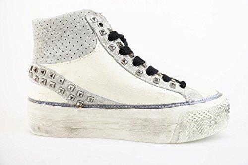 Ah899 Crime Tessuto Beige Bianco Donna Sneakers Camoscio CCOwHUq