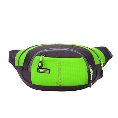 [Laimeng, Travel Handy Hiking Sport Fanny Pack Waist Belt Zip Pouch (green)] (Soda Mini Costumes)
