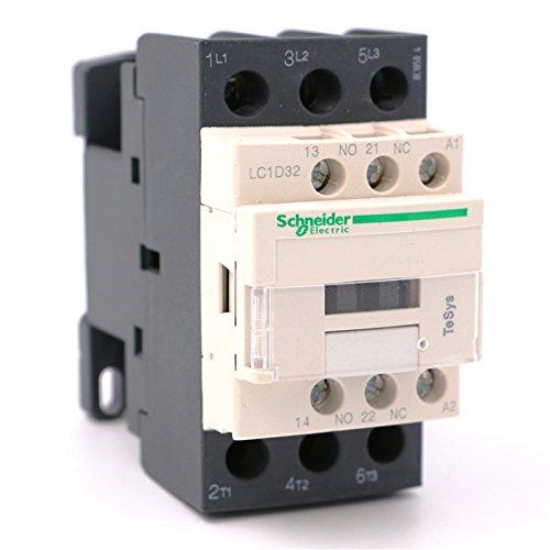 AC Contactor 3P LC1D32 LC1D32B7 LC1-D32B7 32A 24V AC coil by Schneider
