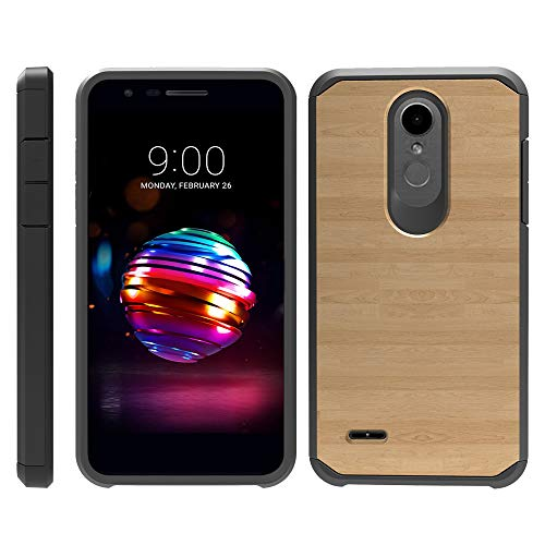 (TurtleArmor | Compatible for LG K30 Case | LG Premier Pro Case | K10 (2018) | Slim Dual Layer TPU Hard Armor Hybrid Shell Case - Maple Wood)