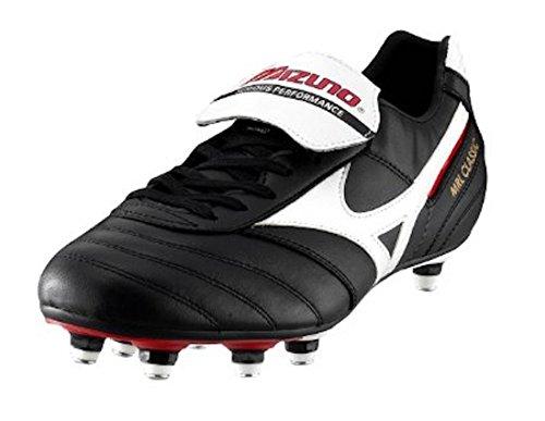 Noir de Chaussures UK Mizuno football blanc Noir homme 10 pour rouge Noir 85SaxSdw