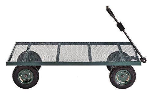 Sandusky Lee FW6036 Green Heavy Duty Steel Flat Wagon, 800 lbs Capacity, 60