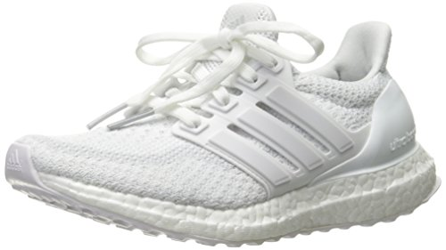 Price comparison product image adidas Kids' Ultraboost j Running Shoe, White/White/White, 5 M US Big Kid