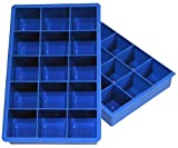 Kyпить Ozera 2 Pack Silicone Ice Cube Tray Molds Candy Mold Cake Mold Chocolate Mold, 15 Cavity, Blue на Amazon.com