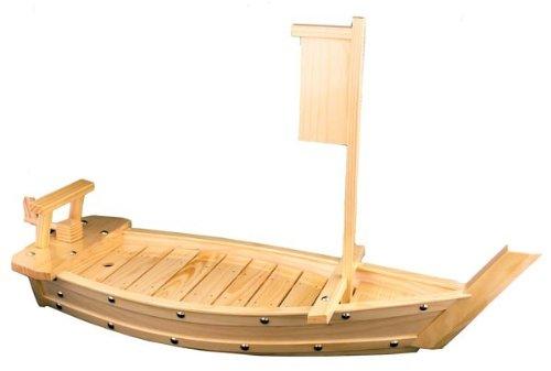 Natural Bamboo Sushi Tray Boat MZO COMINHKPR00766
