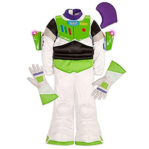 Disney Buzz Lightyear Light-up Costume Kids Size 7/8 White -